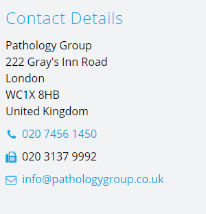 Pathology Group Contact Details